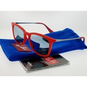 RAY BAN JUNIOR Accessories - RJ9063S-701030 Wayfarer Kids Red Frame Sunglasses
